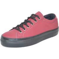 Scarpe Donna Sneakers basse Malu Shoes Sneakers bassa in pelle gommata bordeaux linea basic fondo antis BORDEAUX