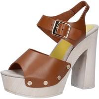 Scarpe Donna Sandali Suky Brand sandali marrone pelle AC482 marrone