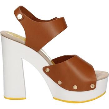 Scarpe Donna Sandali Suky Brand sandali marrone pelle AC483 marrone