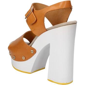 Scarpe Donna Sandali Suky Brand sandali marrone pelle AC485 marrone