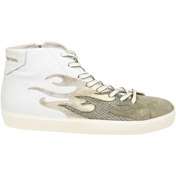 Scarpe Uomo Sneakers alte Leather Crown LEATHER CROWN HI TOP SNEAKERS UOMO MFIRE1          BEIGE/BIANCO