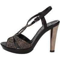 Scarpe Donna Sandali Phil Gatiér sandali nero raso strass AC791 Nero