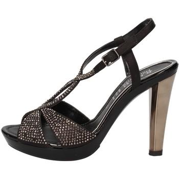 Scarpe Donna Sandali Phil Gatier By Repo scarpe donna  sandali nero raso strass AC791 Nero
