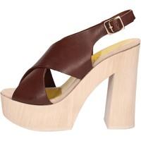 Scarpe Donna Sandali Suky Brand sandali marrone pelle AC799 marrone