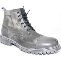 Scarpe Uomo Stivaletti Malu Shoes Calzature uomo anfibio vera pelle scamosciata e crust grigio eff GRIGIO