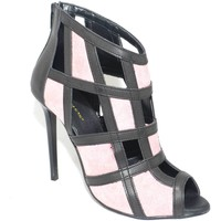 Scarpe Donna Sandali Malu Shoes Scarpe tronchetto donna glamour  a scacchi forma quadrata forat ROSA
