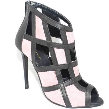 Scarpe Donna Sandali Malu Shoes Scarpe tronchetto donna glamour  a scacchi forma quadrata forato ROSA