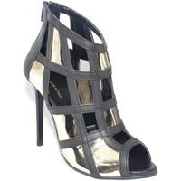 Scarpe Donna Sandali Malu Shoes Scarpe tronchetto donna a scacchi forma quadrata forato in pell ORO