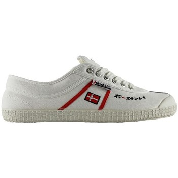Scarpe Sneakers basse Kawasaki 23 sp edit white red stripes bianco