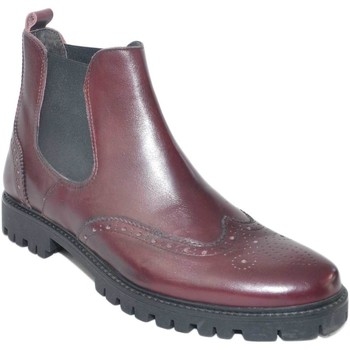 Scarpe Uomo Stivaletti Made In Italia Beatles scarpe uomo in vera pelle bordeaux stile inglese lavora BORDEAUX
