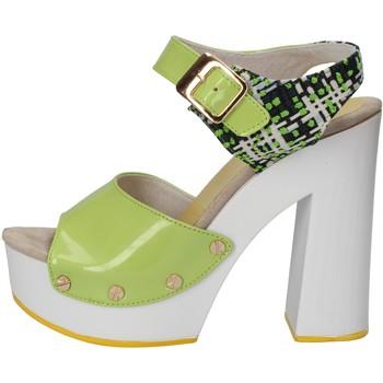 Scarpe Donna Sandali Suky Brand sandali verde vernice tessuto AC811 Verde