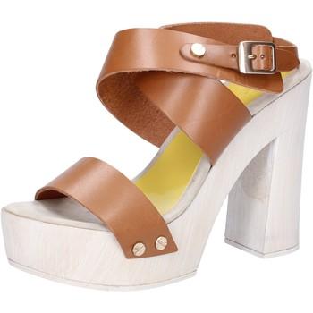 Scarpe Donna Sandali Suky Brand sandali marrone pelle AC816 marrone