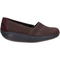Scarpe Donna Mocassini Mbt scarpe donna  slip on mocassini marrone nabuk camoscio AC906 marrone
