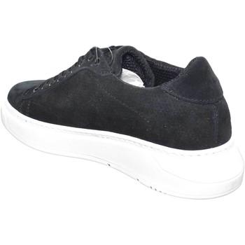 Scarpe Uomo Sneakers basse Malu Shoes Sneakers bassa scarpe uomo fondo doppio army vera pelle nero ri NERO