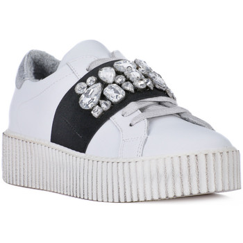 Scarpe Donna Sneakers basse At Go GO GALAXY BIANCO ELSTICO Bianco
