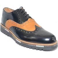Scarpe Uomo Derby Made In Italia scarpe uomo stringate vera pelle abrasivato nero cuoio made in NERO