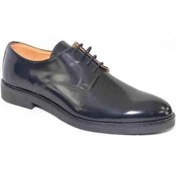 Scarpe Uomo Derby Malu Shoes scarpe uomo stringate vera pelle abrasivato nero made in italy f NERO