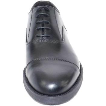 Scarpe Uomo Derby Made In Italia scarpe uomo stringate vera pelle abrasivato nero NERO