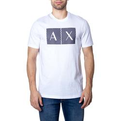 Abbigliamento Uomo T-shirt maniche corte Armani Exchange UOMO T-SHIRT 8NZTCK Z8H4Z GRAPHIC TEE Bianco