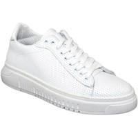 Scarpe Uomo Sneakers basse Malu Shoes Sneakers bassa bianca uomo fondo doppio army vera pelle microfor BIANCO