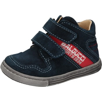 Scarpe Bambino Sneakers alte Balducci scarpe bambino  sneakers blu camoscio AD585 blu