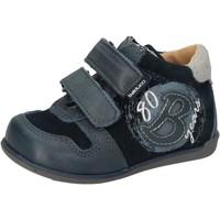 Scarpe Bambino Sneakers alte Balducci sneakers blu camoscio pelle AD588 blu