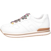 Scarpe Bambina Sneakers basse Hogan HXR2220T548FH5B001 Sneakers Bambina Bianco Bianco