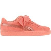 Scarpe Unisex bambino Sneakers basse Puma Suede Heart Snk JR Rosa