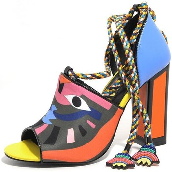 Scarpe Donna Sandali Kat Maconie SCARPE DONNA KIMORA LEATHER MULTI MASK TACCO 10 PE18 Multicolor