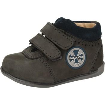 Scarpe Bambino Sneakers alte Balducci scarpe bambino  sneakers blu pelle scamosciata AD590 blu