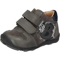 Scarpe Bambino Sneakers basse Balducci sneakers grigio camoscio pelle AD594 Grigio