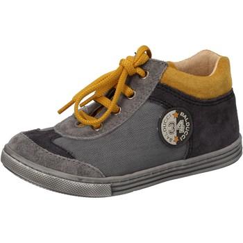Scarpe Bambino Sneakers alte Balducci scarpe bambino  sneakers grigio tessuto camoscio AD595 Grigio