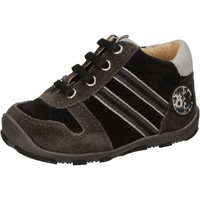 Scarpe Bambino Sneakers alte Balducci scarpe bambino  sneakers nero camoscio AD596 Nero