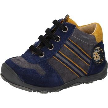 Scarpe Bambino Sneakers alte Balducci scarpe bambino  sneakers blu camoscio grigio AD597 blu