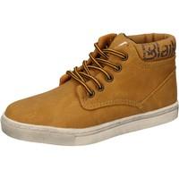 Scarpe Bambino Sneakers alte Blaike sneakers giallo pelle AD702 Giallo