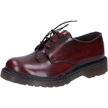 Scarpe Uomo Scarpe da lavoro Olga Rubini scarpe donna  classiche bordeaux pelle lucida AD720 Rosso
