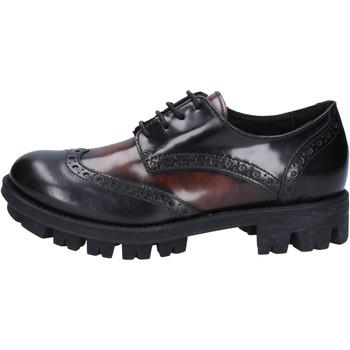 Scarpe Donna Derby Lea Foscati scarpe donna  classiche nero pelle lucida marrone AD743 Nero