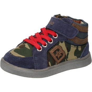 Scarpe Bambino Sneakers alte Blaike scarpe bambino  sneakers blu camoscio verde pelle AD769 Multicolore