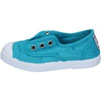 Scarpe Bambina Sneakers basse Cienta scarpe bambina  sneakers verde acqua tessuto profumate AD784 Verde