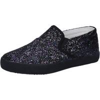 Scarpe Bambina Slip on Date scarpe bambina D.A.T.E. (DATE) slip on nero glitter AD836 Nero