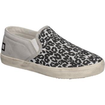 Scarpe Bambina Slip on Date scarpe bambina D.A.T.E. (DATE) slip on bianco tessuto nero AD838 Multicolore
