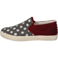 Scarpe Bambina Slip on Date scarpe bambina D.A.T.E. (DATE) slip on bordeaux tessuto grigio A Rosso