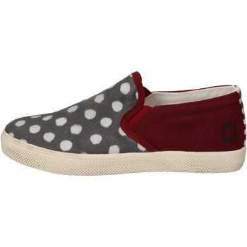 Scarpe Bambina Slip on Date slip on bordeaux tessuto grigio AD841 Rosso