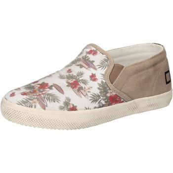 Scarpe Bambina Slip on Date scarpe bambina D.A.T.E. (DATE) slip on bianco tessuto beige AD84 Bianco