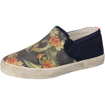 Scarpe Bambina Slip on Date sneakers blu tessuto AD858 blu