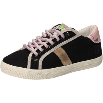 Scarpe Bambina Sneakers basse Date sneakers nero tessuto AD859 Nero