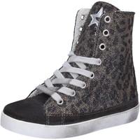 Scarpe Bambina Sneakers alte 2 Stars scarpe bambina  sneakers grigio camoscio oro tessuto AD884 Grigio