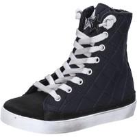 Scarpe Bambina Sneakers 2 Stars scarpe bambina  sneakers nero tessuto camoscio AD887 Nero