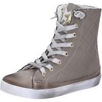 Scarpe Bambina Sneakers alte 2 Stars sneakers beige tessuto camoscio AD888 beige