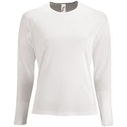 Abbigliamento Donna T-shirts a maniche lunghe Sols SPORT LSL WOMEN Blanco